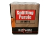 20 schots single effect cake van RedWire met paars crossette effect. Exclusief verkrijgbaar bij Xena Vuurwerk in Ede