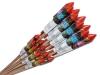 Bestseller assortiment met 18 mooie vuurpijlen in verschillende formaten en diverse effecten voor een aantrekkelijke prijs
