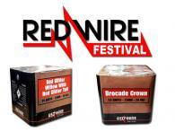 Overzicht van de professionele RedWire producten die ook in shows worden toegepast door Xena Vuurwerk in Ede