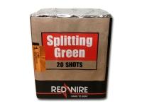Single effect cakebox van RedWire met green crossettes. Exclusief verkrijgbaar bij Xena Vuurwerk in Ede