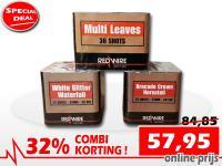Special deal met 32% korting op RedWire cakes met geluidsarme effecten. Online te bestellen bij Xena Vuurwerk in Ede