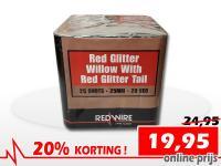 25 schots Red Glitter Willow festivalcake van RedWire, nu verkrijgbaar met korting bij Xena Vuurwerk in Ede