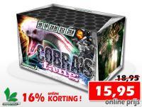 Online 16% korting op de Cobra's Fang 48 schots cake bij Xena Vuurwerk in Ede. Veel vuurwerk voor weinig geld!