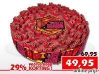 Chinese rol 100.000 koop je online tijdens de voorverkoop met korting bij de vuurwerkwinkel van Xena Vuurwerk in Ede
