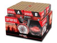 Mooie mixed effect 144 schots compound met als hoofdthema rode effecten. verkrijgbaar in de vuurwerkwinkel van Xena Vuurwerk in Ede