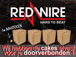 RedWire compound cakeboxen met hoogwaardige vuurwerkeffecten zijn verkrijgbaar bij Xena Vuurwerk in Ede