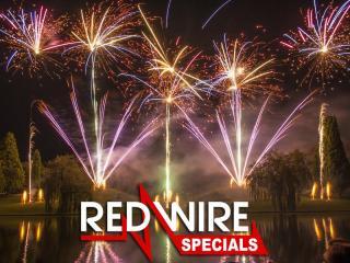 Assortiment compound cakeboxen van RedWire Specials, verkrijgbaar bij Xena Vuurwerk in Ede