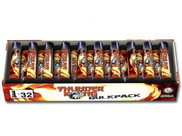 Bulkpack verpakking met 32 enkelschots mortiertjes met harde titanium knal. Met korting te bestellen bij Xena Vuurwerk in Ede