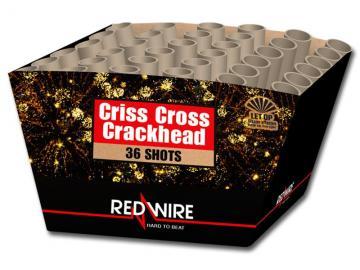 RedWire 26 schots waaiercake met heftige crackling mines en grote crackling wolken. Online te bestellen bij Xena Vuurwerk in Ede