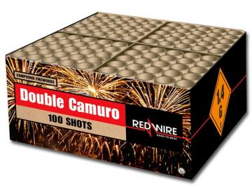 RedWire finale compound cakebox met grote gouden effecten in 2 kleuren. Online te bestellen bij Xena Vuurwerk in Ede