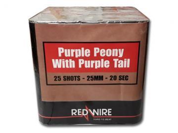 RedWire 25 schots festival cake met titanium burst en purple peony effect. Verkrijgbaar bij de vuurwerkwinkel van Xena Vuurwerk in Ede