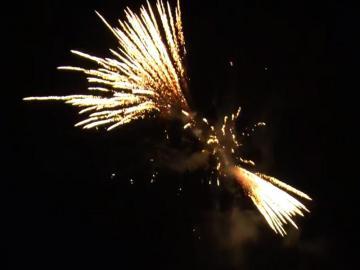 Brocade Crown Horsetail 25 schots geluidsarme festival cake van RedWire. Online te bestellen bij Xena Vuurwerk in Ede