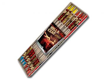 Klein vuurpijlenpakket met 12 verschillende pijlen. Verkrijgbaar bij Xena Vuurwerk in Ede